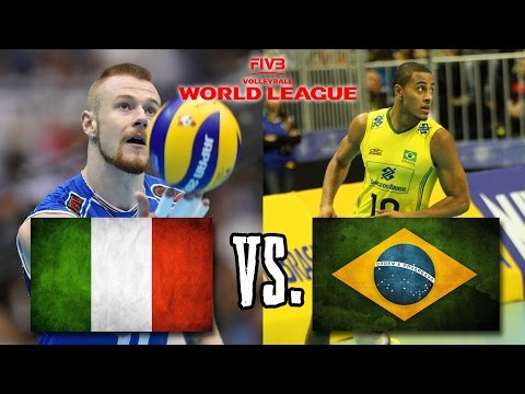 Italy vs  Brazil FIVB World League Finals Group 1 FULL MATCH BREAKS REMOVED