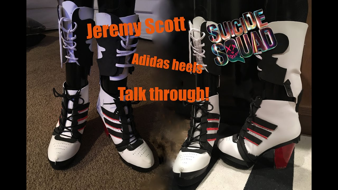 ADIDAS BY JEREMY SCOTT 130mm Js High Heel Leather Boots