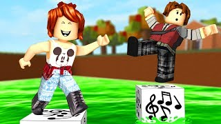Roblox - PULE NO BLOCO MUSICAL ft CRIS MINEGIRL (TNT Rush)