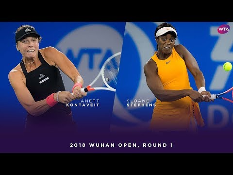 Anett Kontaveit vs. Sloane Stephens | 2018 Wuhan Open Round One | WTA Highlights 武汉网球公开赛