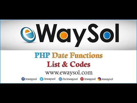 PHP Date & Time Functions List with Codes | eWaySol