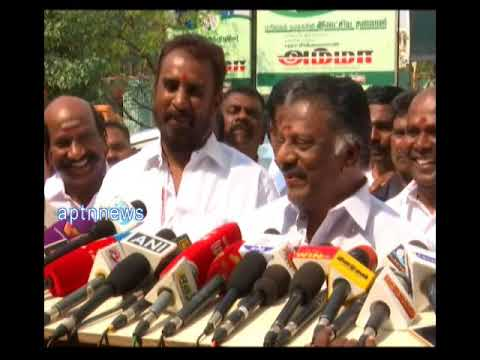 O.PANNEER SELVAM|WE DID NOT BRING ANYTHING TO THIS WORLD TO LOOSE IT|AIADMK