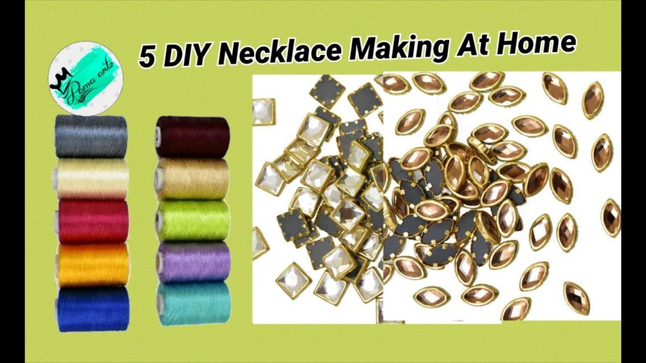 5 Diy Stunning Necklaces Making At Home Very Unique Diy Ideas
