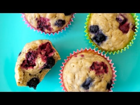 Easy Breakfast Recipes: Very Berry Muffins For Kids - Weelicious