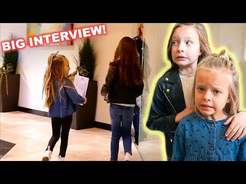 KIDS REAL INTERVIEW FOR ACTING & MODELING! 😬 No Parents Allowed