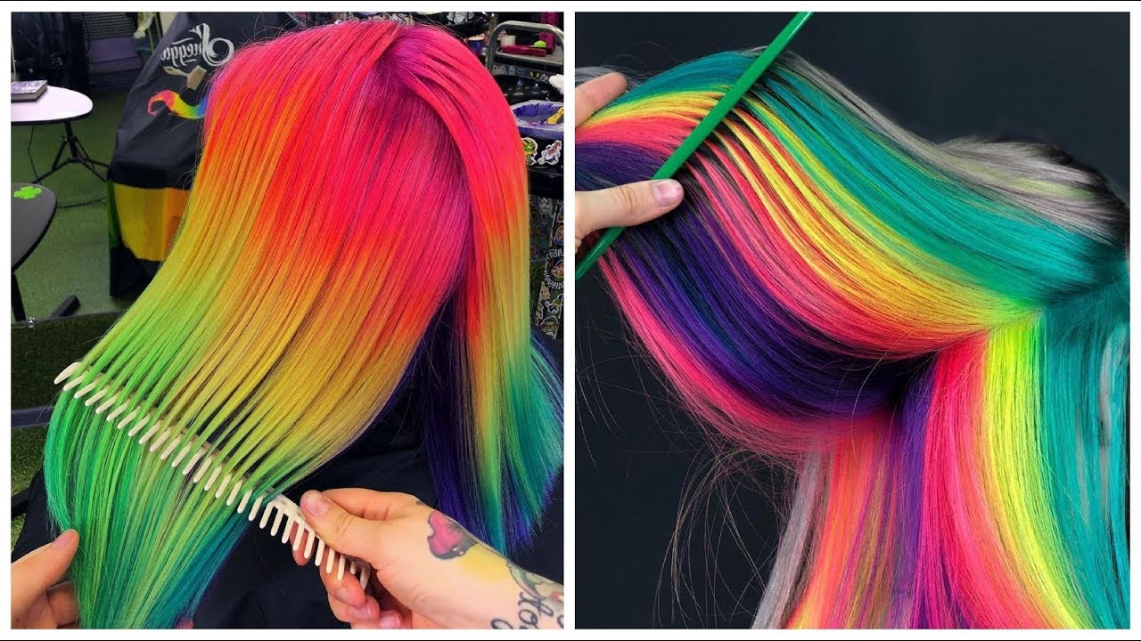 colorful hair ideas rainbow color