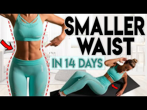 SMALLER WAIST And LOSE BELLY FAT In 14 Days | Home Workout