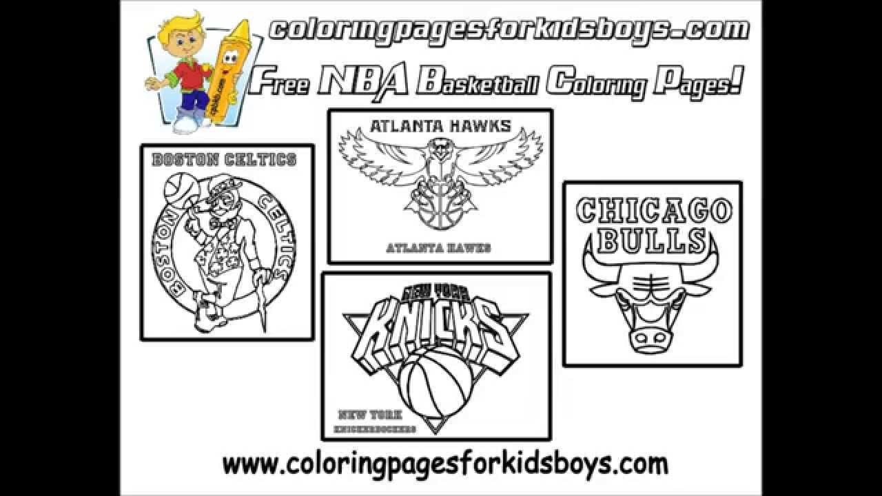 coloringbuddymike nba basketball coloring pictures youtube