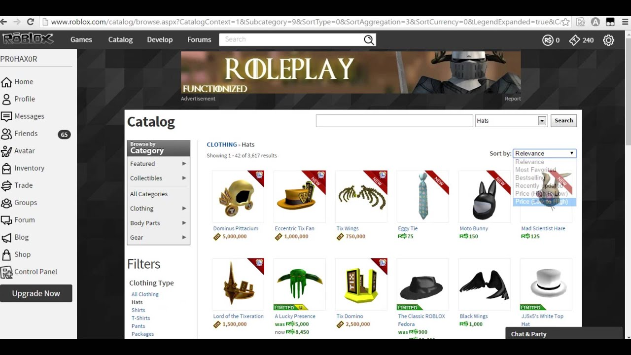 ROBLOX How to get free robux hats (Expires 4/13/16) - YouTube - photo#38