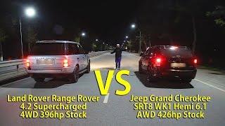 БИТВА КРОССОВЕРОВ! Supercharged Range Rover бросил вызов Jeep Grand Cherokee SRT8