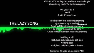 NIGHTCORE The Lazy Song (Lyrics)