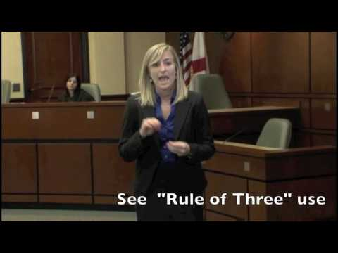 Professor Charles H. Rose III discusses how to deliver a closing argument, with examples.