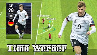 Review Featured Player CF 98 Rating TIMO WERNER - Pes 2020 Mobile