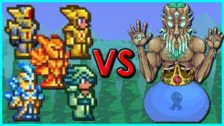 Terraria - 5 Different Armors vs Moon Lord and King Slime | How Long Can You Survive ?