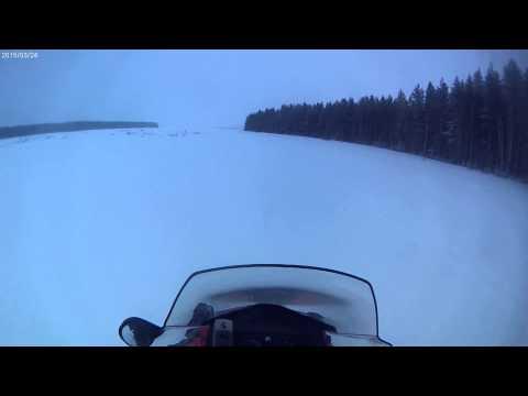 Разгоняем снегоход Lynx 59 YETI 600 ACE (почти чистый лёд)