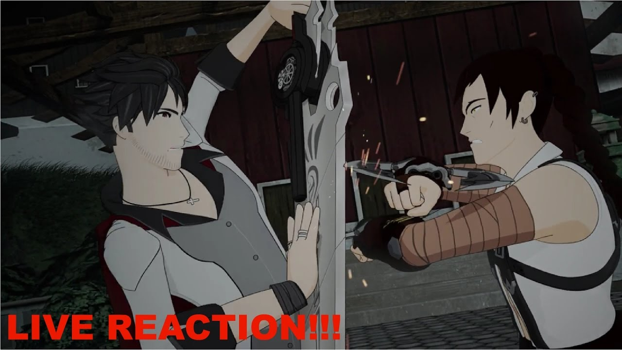 Qrow Vs  Tyrian!!! - RWBY Volume 4 Chapter 7 REACTION!!