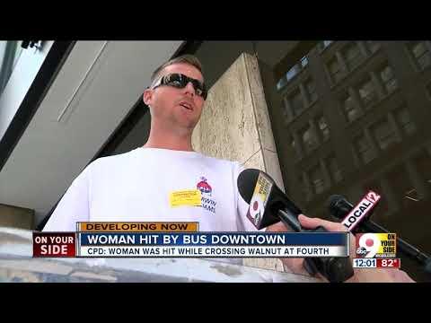 TANK bus hits pedestrian in downtown Cincinnati