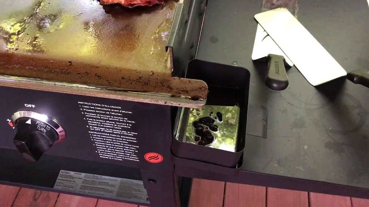 blackstone griddle grease issue everyday bbq youtube