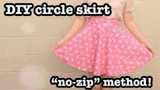 Diy Circle Skirt (no-zip Method)