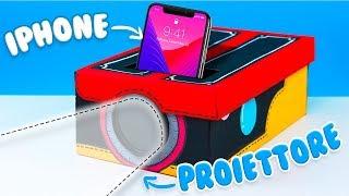 DIY - COME COSTRUIRE UN PROIETTORE PER IPHONE! *funziona davvero*