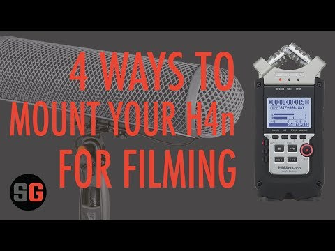 4 Ways to Mount Small Audio Recorders like the Zoom H4n for filming