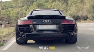 Audi R8 V8 | Armytrix可変バルブマフラー | 高周波サウンド 快音