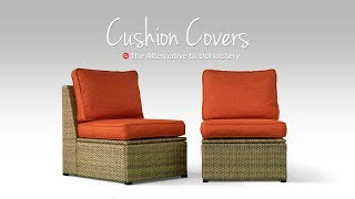 Cushions Makeover With Custom Covers | Comfort Works Slipcovers