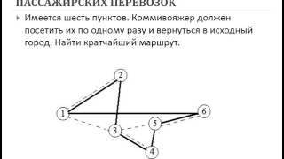 Фатыхова М Ю  АСУ урок 9 АСУ пассажирскими перевозками, решение задачи оптимизации планирования пасс