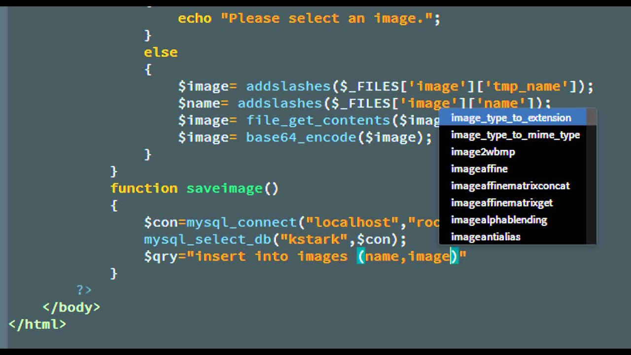 PHP/MySQL - Save/Retrieve image from database - YouTube