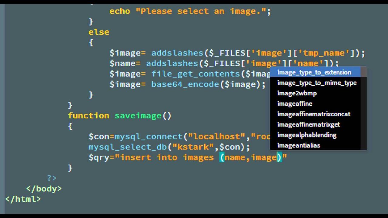 Save/Retrieve Image From Database