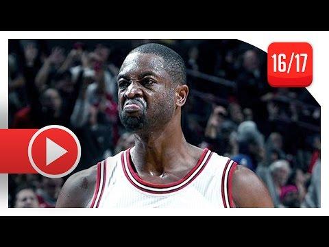 Dwyane Wade Full Highlights vs Celtics (2016.10.27) - 22 Pts, Official Bulls Debut