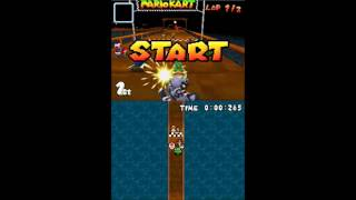 Mario Kart DS - 12th Place Finish!?(Curiosities with hacks)