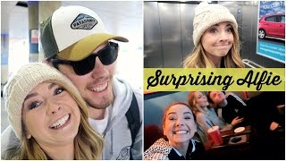 SURPRISING ALFIE AT THE AIRPORT
