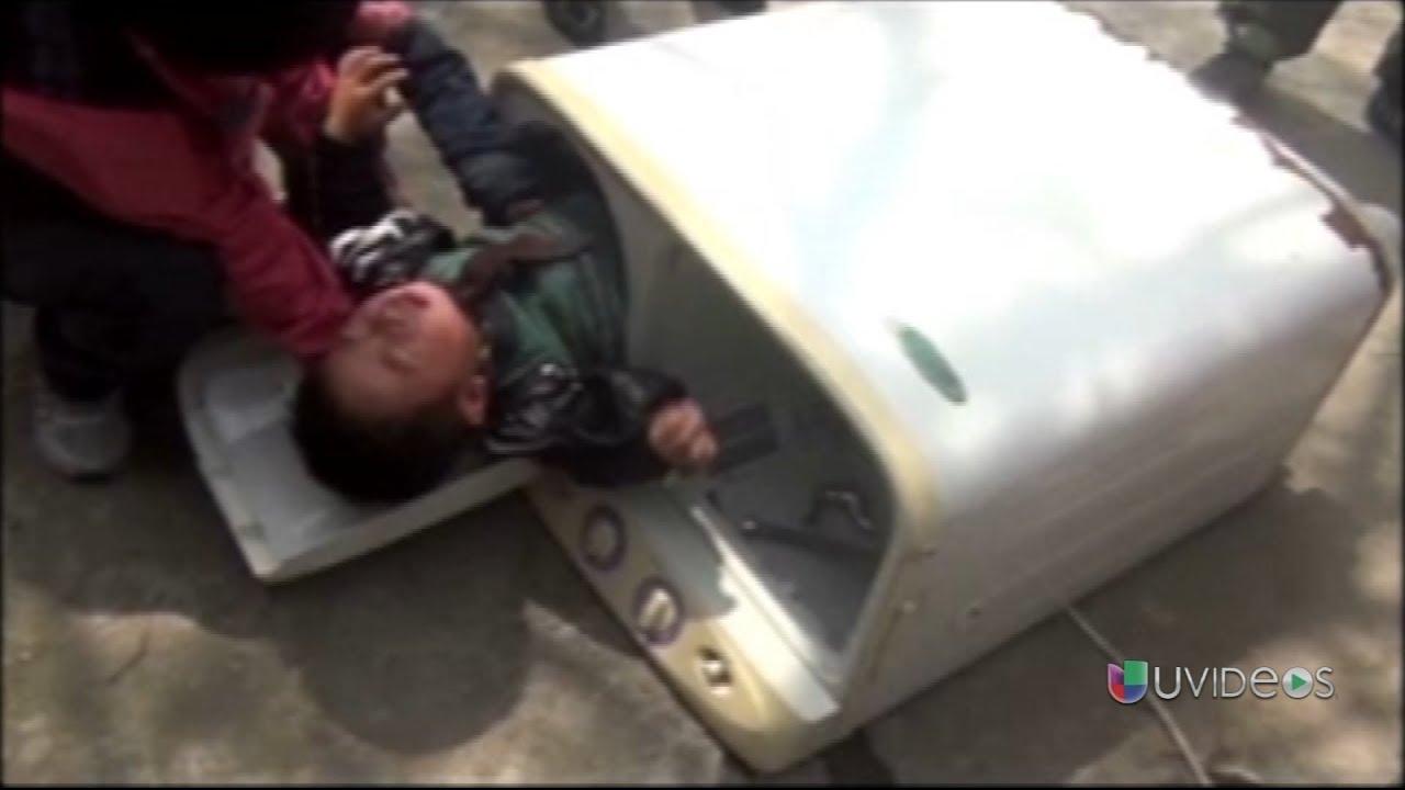 Im genes de impacto un ni o dentro de una lavadora youtube - Fotos de lavadoras ...