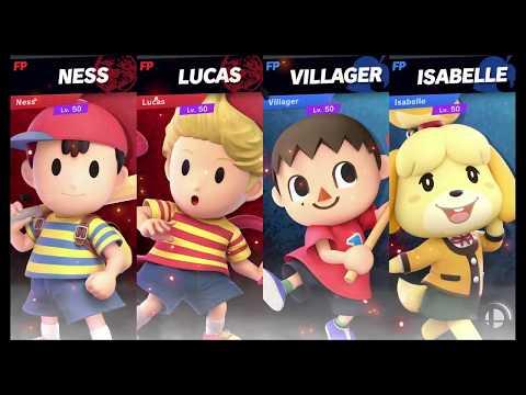 Super Smash Bros Ultimate Amiibo Fights   Request #2211 Team Mother Vs Team Animal Crossing