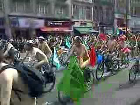 World naked bike ride UK 2007