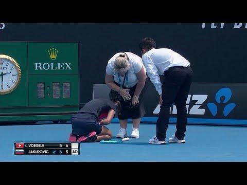 Avustralya yangınları: Sloven tenisçi hava kirliliği nedeniyle eleme maçına devam edemedi
