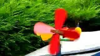 Whirligig Weather Vane - Fighting Cockerels