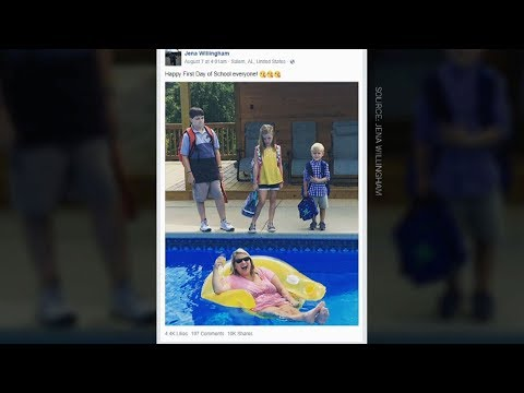 Alabama mother's cheeky back-to-school photo goes viral