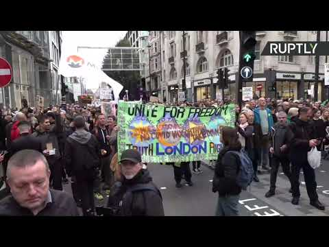 Anti-COVID measures protest in London [STREAMED LIVE]