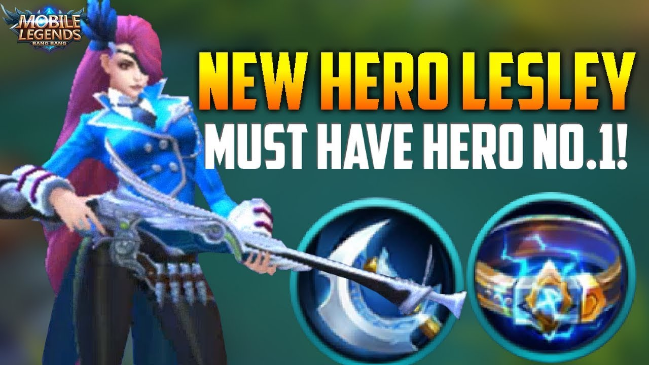 LESLEY IS 100% FIRST PICK HERO! MOBILE LEGENDS LESLEY RANKED GAMEPLAY!