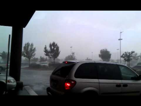 Hurricane style weather in Palmdale, CA. (9-10-11)