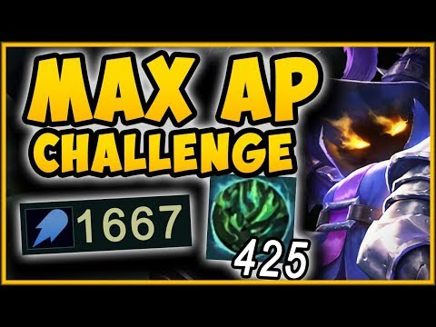 ACHIEVE MAX POSSIBLE VEIGAR DMG WITH THIS CHALLENGE MAX AP VEIGAR TOP CHALLENGE League of Legends