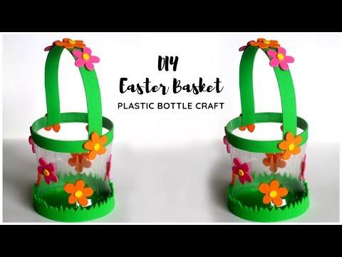 DIY Easter Basket | Plastic Bottle Craft Idea | EASY Basket Making at Home