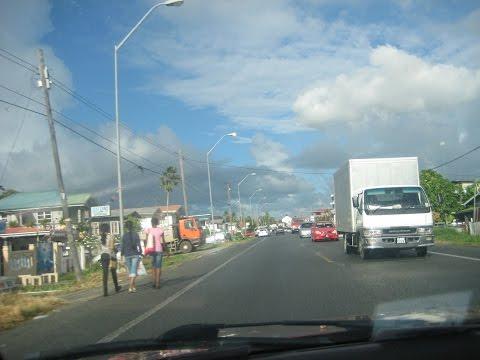 GUYANA, GOING DOWN WEST COAST DEMERARA, New Road