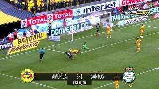 Santos Golea al América 4-1