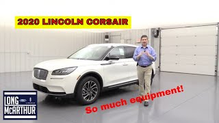 2020 LINCOLN CORSAIR STANDARD COMPLETE GUIDE