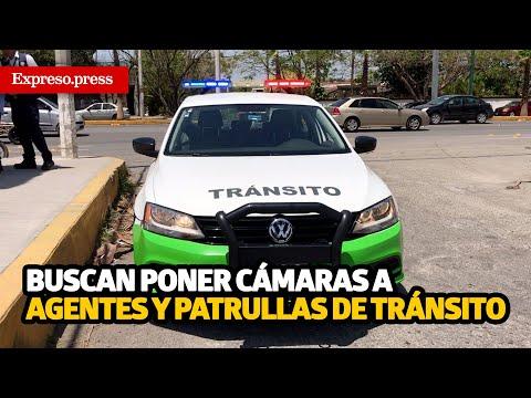 Buscan poner cámaras a agentes y patrullas de Tránsito