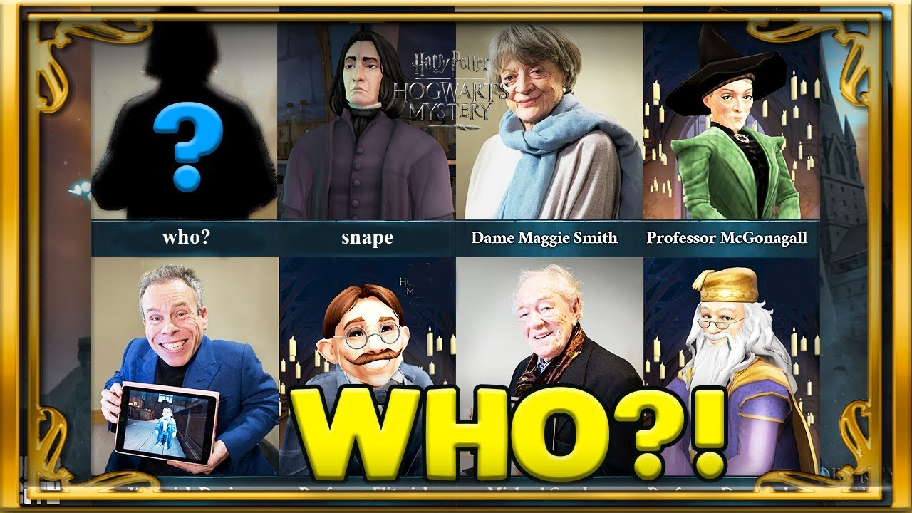 FULL VOICEOVERS FOR PROFESSORS!! EVEN SNAPE!!! - HARRY POTTER: HOGWARTS  MYSTERY