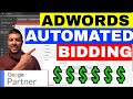 Adwords Automated Bidding Strategy Options Explained 💲💲 (TUTORIAL)